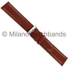 20mm Morellato Tan Brown Padded Genuine Italian Leather Mens Watch Band XL 969
