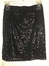 WOMEN SPARKLE TIGHT PENCIL SKIRT,MINI-RUE21-SIZE MEDIUM-STRETCH-BLACK BLING -NWT