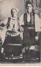 B77977 jeunes mavies en costume de noce morient macedonie  scan front/back image