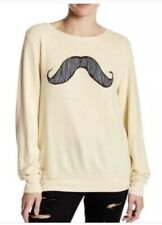 Wildfox Mustache Sweater Jumper Pullover Top Size XS Extra Small