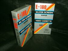 VHS *SILVER SCREEN E-180 * Two Brand New Factory Sealed Blank 3 Hour Video tapes