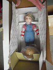 "Danbury Mint Porcelain Cloth Shirley Temple Rebecca Farmer Doll 13"" Nib"