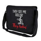 They See Me Rollin They Hatin E-Scooter Escooter Fun Shoulder Bag Messenger Bag