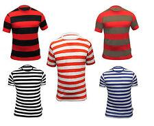 New Men Striped /Stripey T-Shirt Short Sleeve Stripe Cotton T-Shirts