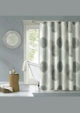 """Madison Park KNOWLES Fabric Shower Curtain 72"""" X 72"""" Circles Grey Polyester"""