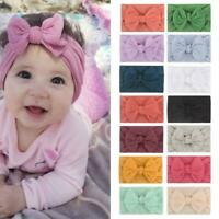 Toddler Girls Baby Turban Solid Headband Hair Band Bow Accessories Headwear Hot