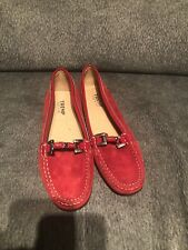 Tremp italy suede moccasin shoes woman sz 7 nwob