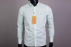 Brand New  Slim Fit  Green Etro  Men's Shirt Size-XXL