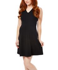 Vestido de maternidad negra Talla 12 para señoras mujeres sin mangas con cuello en V