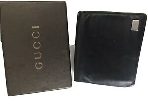 Gucci Mens Black Leather Wallet