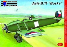 Kovozavody prostejov 1/72 MODELLO KIT 7278 Avia B-11 cecoslovacca Porcospino piano