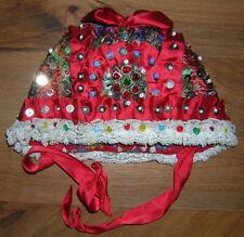 Vintage Antique Czech Bohemian Childs Girls Folk Costume Bonnet Cap Chodsko Rare