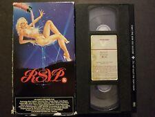 R.S.V.P. (VHS, 1984) Veronica Hart, Harry Reems (Deep Throat) Vestron Video RARE