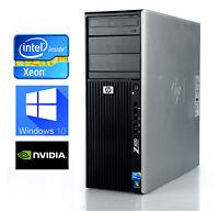 HP Z400 Workstation Quad Core W3520 8GB 500GB SATA Quadro NVS