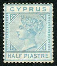 Cyprus SG11 1/2pi Emerald-green Wmk Crown CC Mint (no gum) colour changing