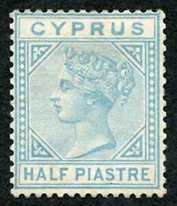 Cyprus SG11 1/2pi Emerald-green Wmk Crown CC Mint (no gum) colour changing