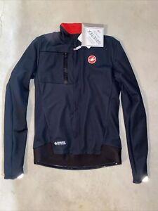 Castelli Cycling BRAND NEW Men's Double Espresso Jacket - Black Size Large