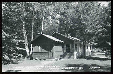 1940's 50's Pine Resort Town Line Lake Three Lakes Wisconsin RPPC Postcard 258-H