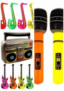 Inflatable Music Instruments Guitar/Microphone/SAXOPHONE COLORFUL BLOW UP PARTY