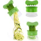Spiral Noodles Spaghetti Pasta Maker Vegetable Slicer Kitchen Tool Green Useful