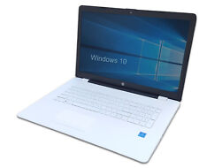 "HP Notebook 17"" Weiß - Intel Quad Core 4x 2,56GHz - 500GB- Windows 10 Pro Laptop"