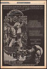 STONE__Orig. 1980 Cannes Trade AD / poster__SANDY HARBUTT__biker_Kawasaki 900's
