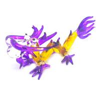 Tiny Dragon 3 hand blown Art glass miniature figurine crystal dollhouse animal