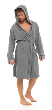 Strong Souls Mens Lightweight Hooded Robe Summer Dressing Gown 100 Cotton Size