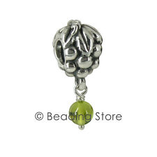 NEW Pandora Silver ALE Peridot Grapes Grape Bunch Green Charm Pendant 790481PE
