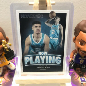 LaMelo Ball Charlotte Hornets NOW PLAYING Panini NBA HOOPS Rookie RC Card SS-31