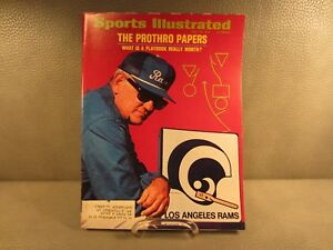 Vintage Sports Illustrated July 24, 1972 Los Angeles Rams Cover
