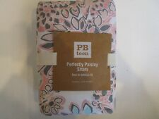 Pottery Barn Teen Perfectly Paisley standard pink sham quilted  New