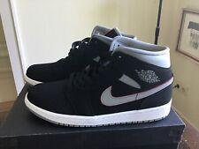 Nike Air Jordan 1 Mid  US 10 44 black particle grey white