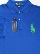 New Polo Ralph Lauren Short Sleeve Blue Big Pony Polo Shirt / big 3X
