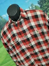 WRANGLER Mens Flannel Plaid Insulated Jacket RED BLACK Size Medium