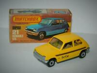 MATCHBOX LESNEY SUPERFAST RENAULT 5 TL No.21 VNM IN ORIGINAL K BOX SILVER BASE !