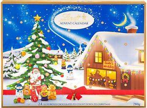 Lindt Giant Advent Calendar Christmas Xmas Santa's Countdown Fun for Kids 280g