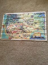 The Young Forty Niners Radio Show 1933 ORIGINAL Colgate Map NOT REPRO