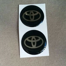 NEW 4 X TOYOTA Logo 35 mm Resin Wheel Center Caps Decal Emblem Sticker Badge