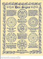 Hex Signs Sigils for Wicca Book of Shadows Pagan Occult Spell on Parchment