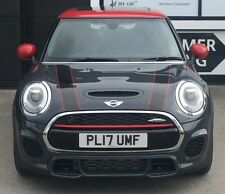 MINI CLUBMAN JOHN COOPER WORKS FRONT BONNET STRIPES RED BLACK DECAL STICKER