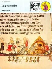FICHE CARD La peste Noire XIVe Incinération des Vêtements Contaminés France 90s