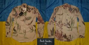 ●✿ NWT PAUL SMITH FLORAL 100% POLYESTER DRESS SHIRT SIZE MEN'S ADULT S ✿●