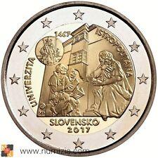 ESLOVAQUIA 2 Euro 2017 - 550º Aniversario de la Universidad Istropolitana (S/C)