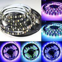 Black PCB RGB White LED Strip 5050 SMD 5M RGBW Light 5M 300 LEDs Waterproof 12V