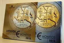 LITHUANIA - The Lithuanian proof quality Euro coins SET 2015 UNC