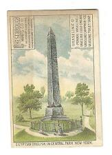 Trade Card Chesebrough NY London Montreal Vaseline Egyptian Obelisk Central Park
