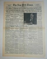 N863 La Une Du Journal The New York times 9 December 1941 U. S Déclares war
