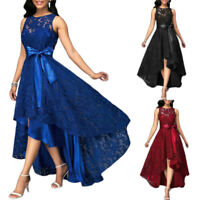 Plus Size Womens Lace Long Dress Sleeveless Evening Party Cocktail Prom Gown HF