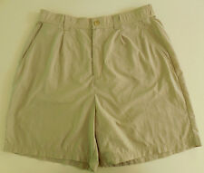 Campmor Shorts Women L Beige Sand Tan Nylon Large Womens Size Sz Hiking Summer**